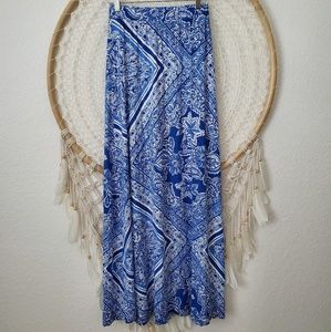 Lilly Pulitzer Nola Maxi Skirt Color Blue Crush